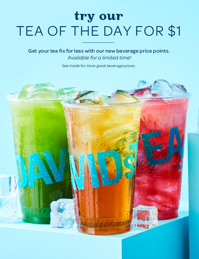 Get your tea fix for less with our new beverage price points!