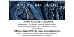Jeans, joggers & leggings : achetez-en un, obtenez-en un à 50% de rabais & obtenez jusqu'à 50% de rabais sur certains articles
