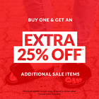 Buy one & get an EXTRA 25% off