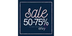 Save 50-75% off winter styles at envy!