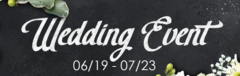 Wedding Event!