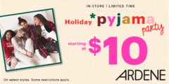It's time for a Holiday Pyjama Party at Ardene!