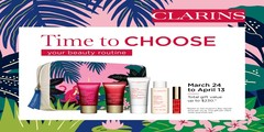 CLARINS Gift With Purchas March 24 to April 13