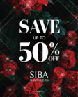 Save Up To 50% off on Select Jewellery