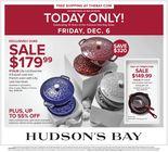 Hudson's Bay - One Day Sale
