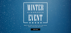 Winter Clearance Event! On Now!