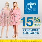 Save 15% on 2 or more Alterations