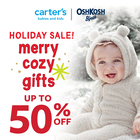 Holiday Sale! Merry cozy gifts up to 50% off