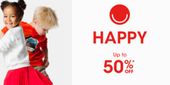 HAPPY OFFER : up to 50% off