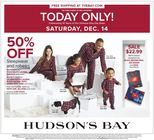 TODAY ONLY! SATURDAY DEC 14