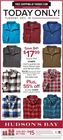 TODAY ONLY! TUESDAY, DEC. 18  $17.99 CHAPS men's quarter-zip micro fleece tops and flannel shirts