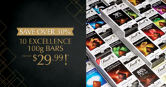 10 Excellence 100g Bars for only $29.99!*