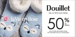 Chaussettes et pantoufles: 50 % de rabais sur votre deuxième article