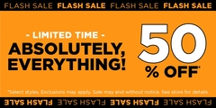 Flash Sale at Bluenotes! 50% Off Everything!