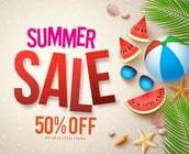 50% OFF SUMMMER CLEARANCE SALE!!