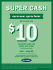 Super Ca$h Earn 5/6 - 5/23  !!