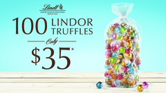 Your pick of 100 Lindor Truffles for $35!*