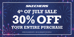SKECHERS 4TH OF JULY STOREWIDE 30% OFF SALE
