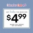 Get Indie the Bear for $4.99 When you spend $15 or more! Regular price for Indie is $12.99