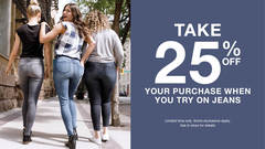 RICKI'S TRY ON EVENT - 25% off when you try on jeans