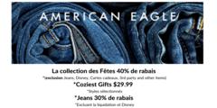 La collection des Fêtes à 40% de rabais, Coziest Gifts à 29,99$, Jeans à 30% de rabais