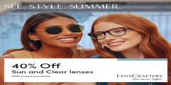 Save 40% off with frame purchase