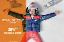 SPECIAL FALL-WINTER OFFER : 30%off COATS & JACKETS